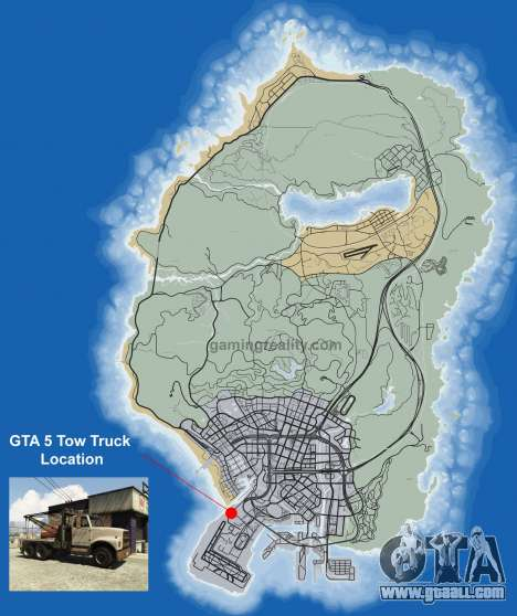 Where to find a Tow truck in GTA 5
