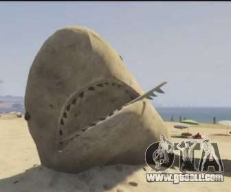 GTA V sand shark on the beach