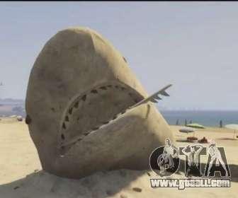 GTA V sand shark on the beach
