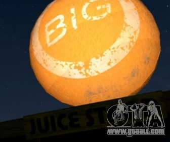 Big orange ball in GTA V