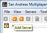 Panel, click on the 'Add server' (add a server)