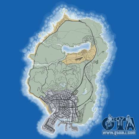Road map of Grand Theft Auto 5