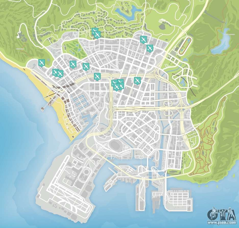 GTA 5 map - download all GTA 5 maps