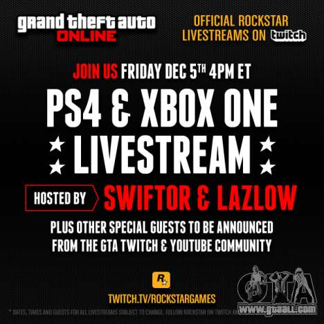 GTA 5: the raffle and broadcast Rockstar