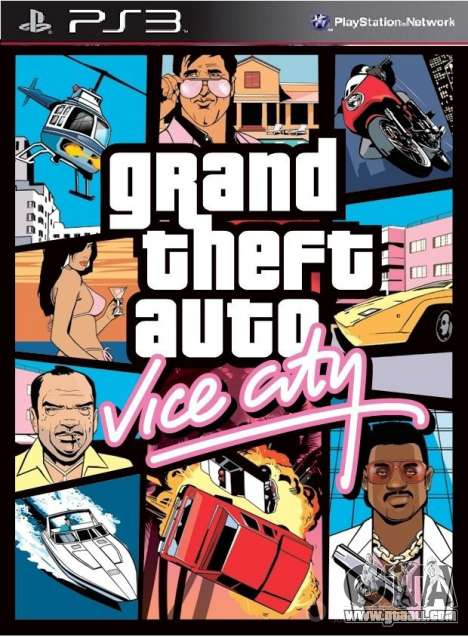Collection of fan exit GTA VC PS3(PSN) in Europe