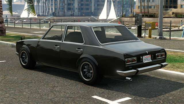 Vulcar Warrener from GTA 5 - view from behind