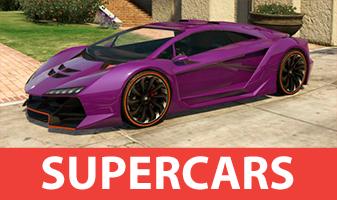 Supercars dans GTA 5