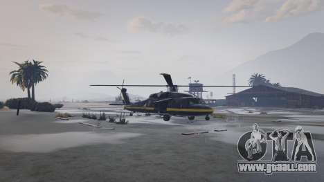 GTA Online - helicopter in the Sandy Shores airfield