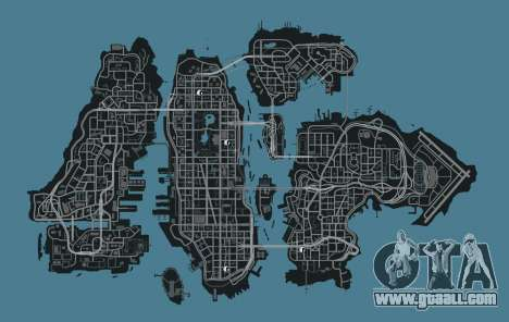Map of clothing stores GTA 4