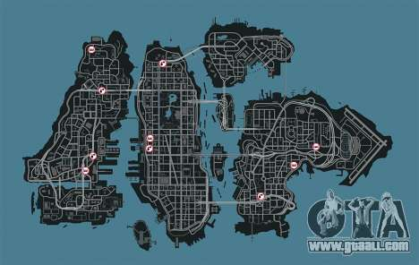Map of garages in GTA 4