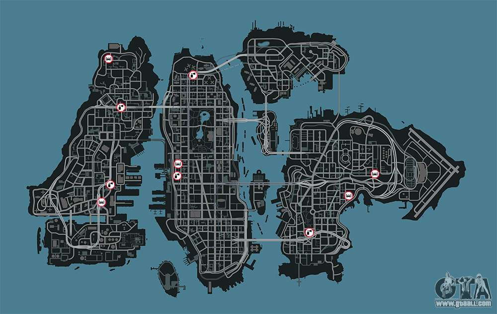 gta  garages map     improve  car
