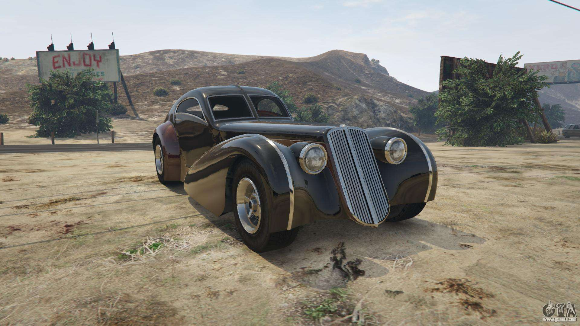 Truffade Z-Type from GTA 5 - front view