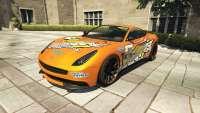 Dewbauchee Massacro Racecar from GTA 5 - front view
