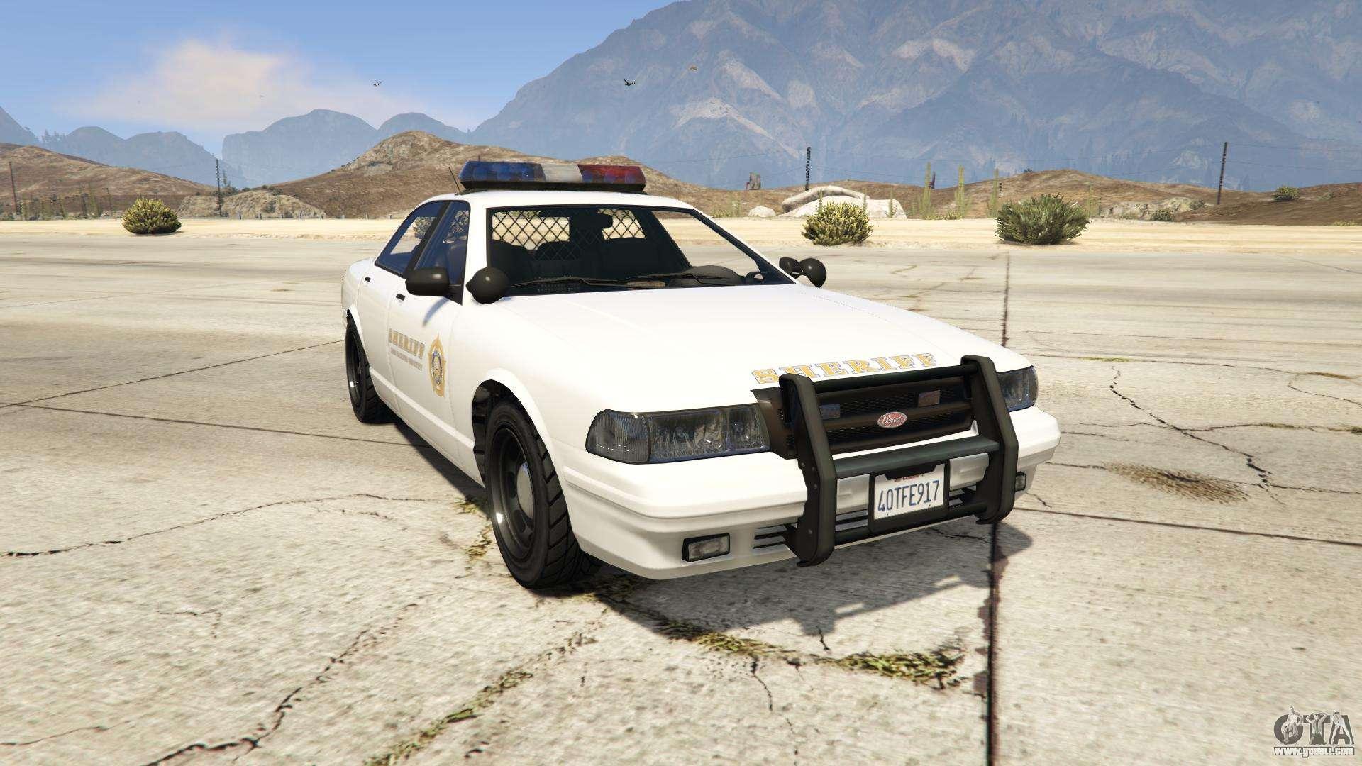 GTA 5 Vapid Sheriff Cruiser - front view