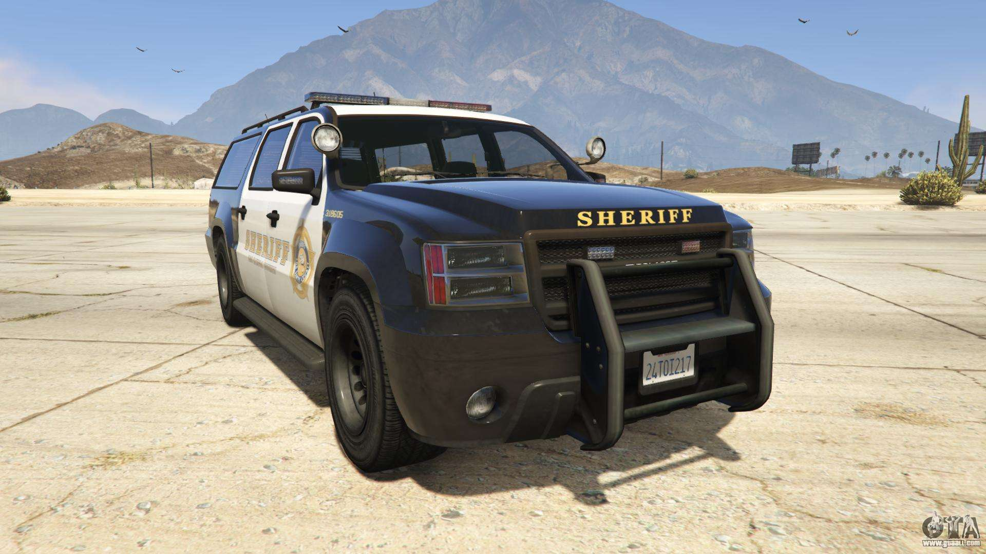 GTA 5 Declasse Sheriff SUV  - front view