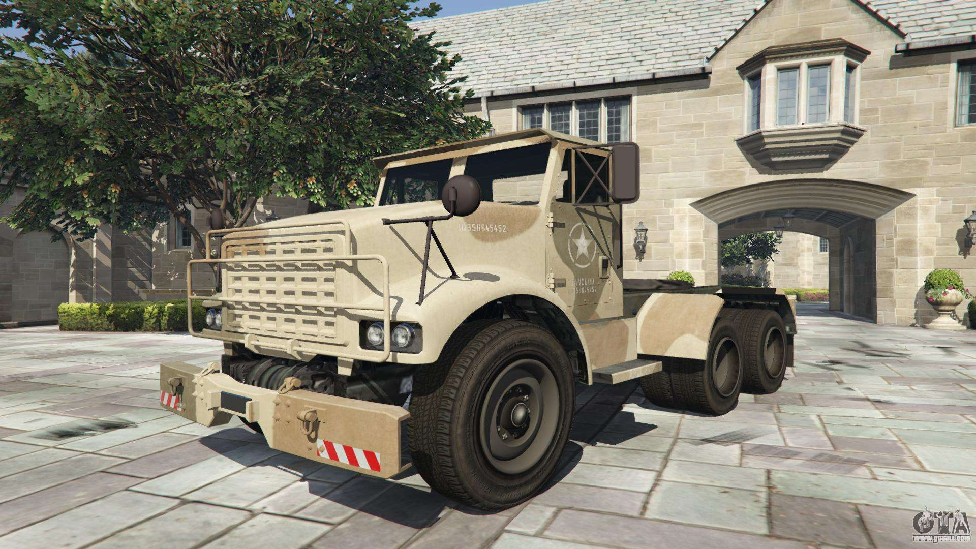 GTA 5 HVY Barraks Semi - front view