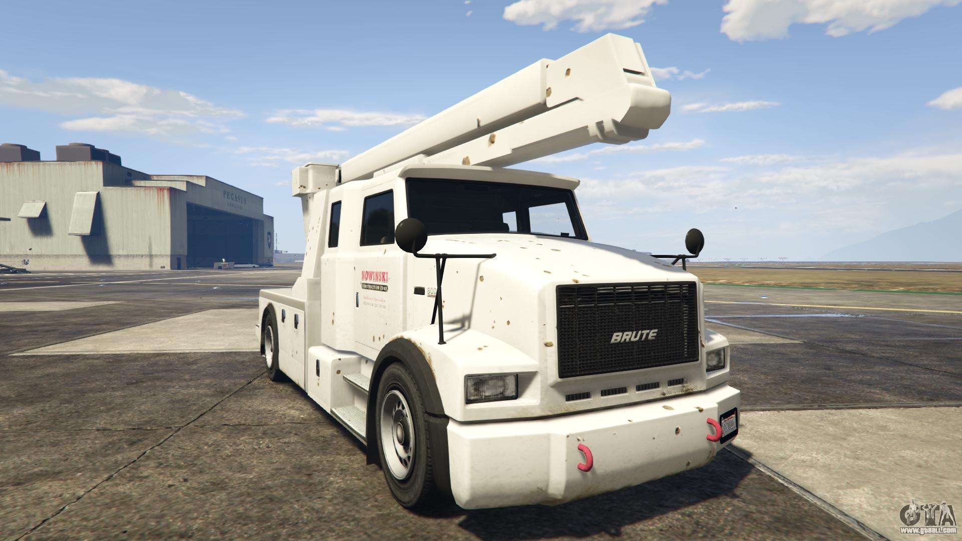 GTA 5 Brute Utility Truck - front view