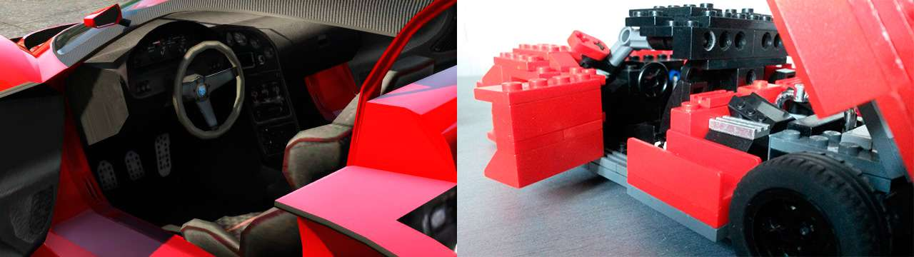 Lego Grotti Turismo R - interior