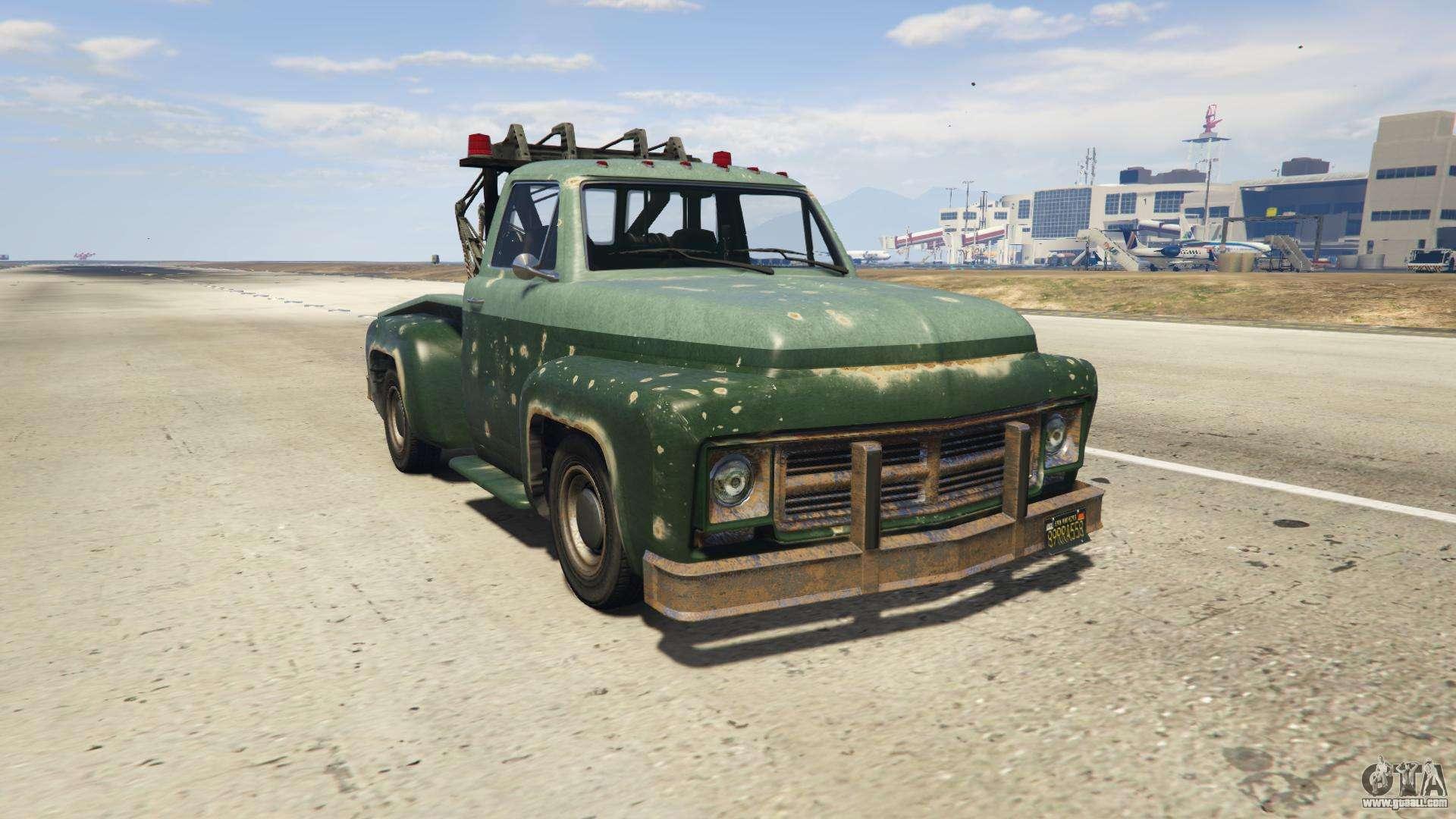 GTA 5 Vapid Tow Truck - front view