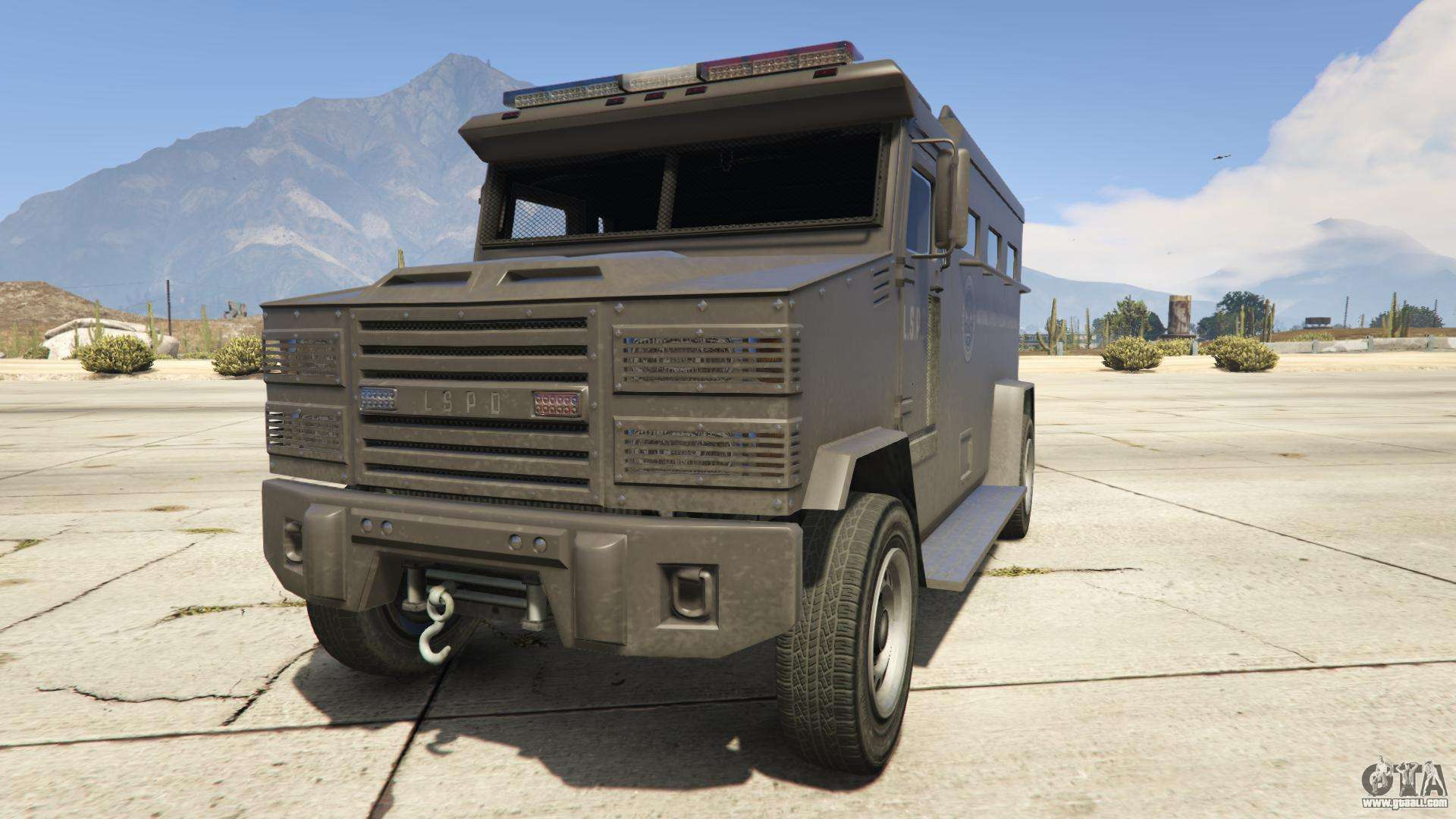 GTA 5 Brute Police Riot - front view