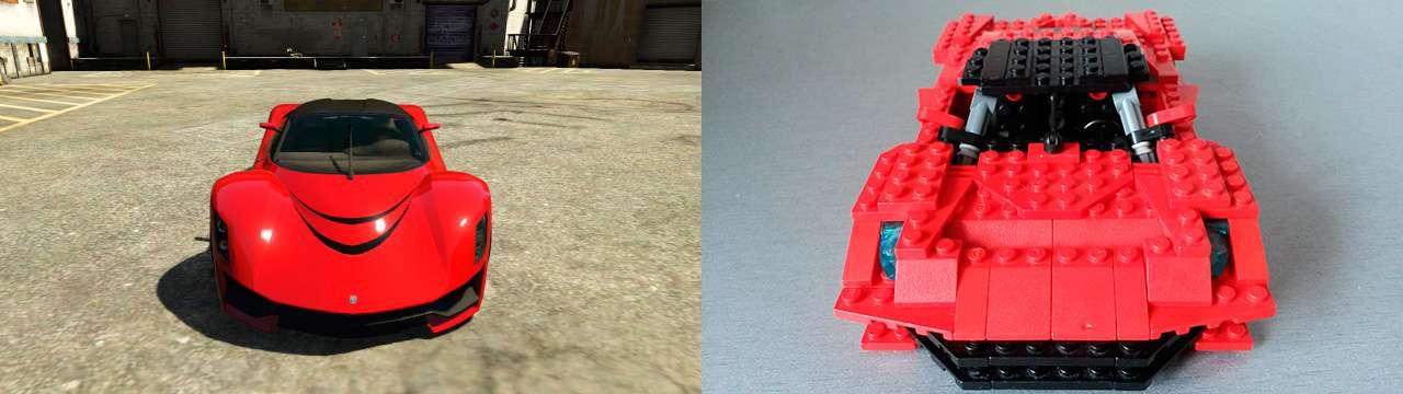 Lego Grotti Turismo R - fron view