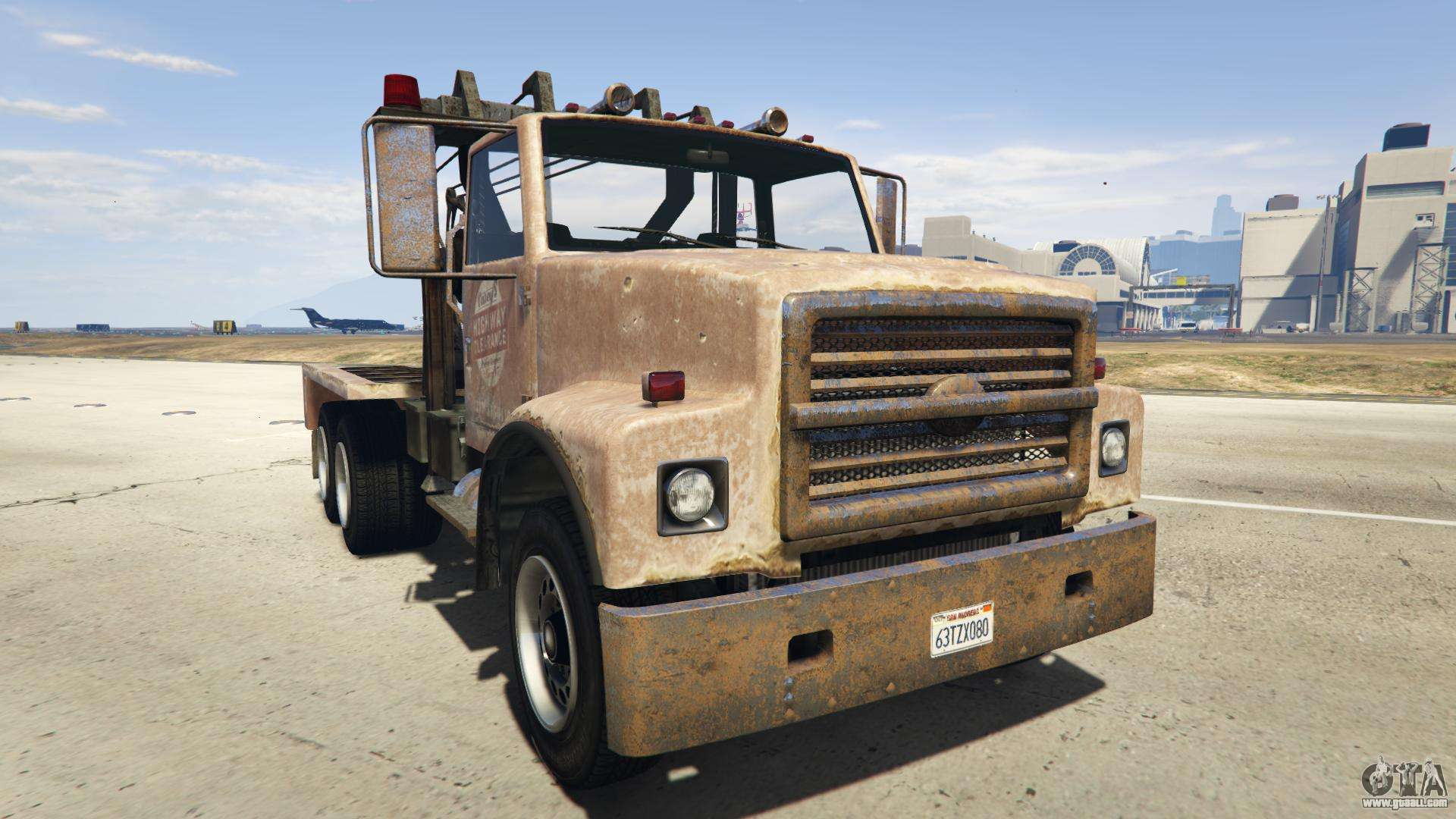 GTA 5 Vapid Towtruck Large - front view
