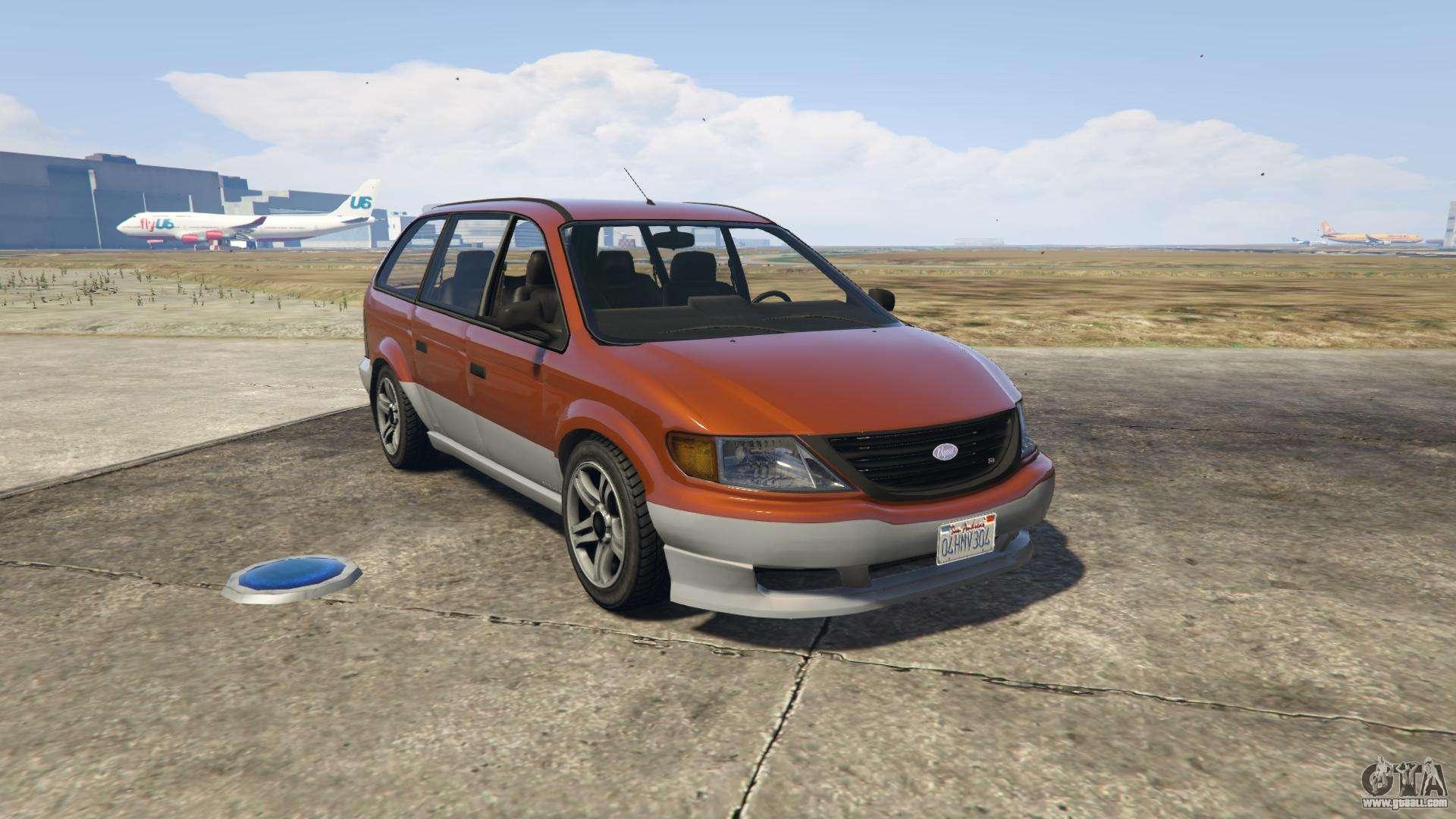 GTA 5 Vapid Minivan - front view