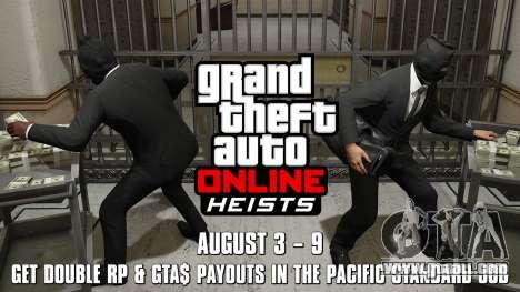 Pacific Standard heist double reward