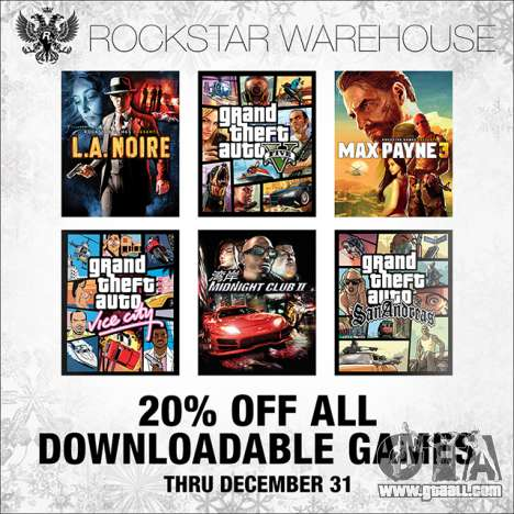 Discount at the Rockstar Warehouse and Steam