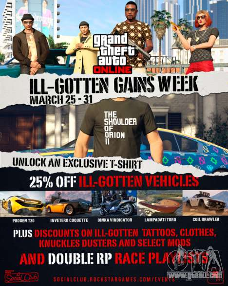 I'll Gotten Gains event week in GTA Online