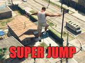 Super jump cheat for GTA 5 on PC.