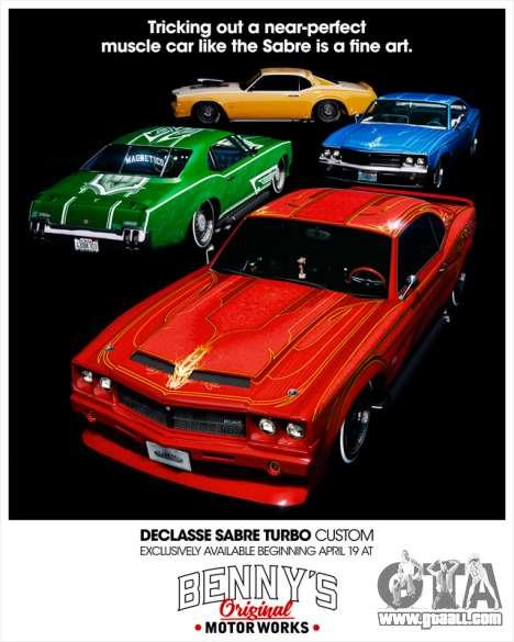 Declasse Sabre Turbo Custom available in GTA Online