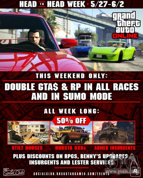 Head to Head Week in GTA Online