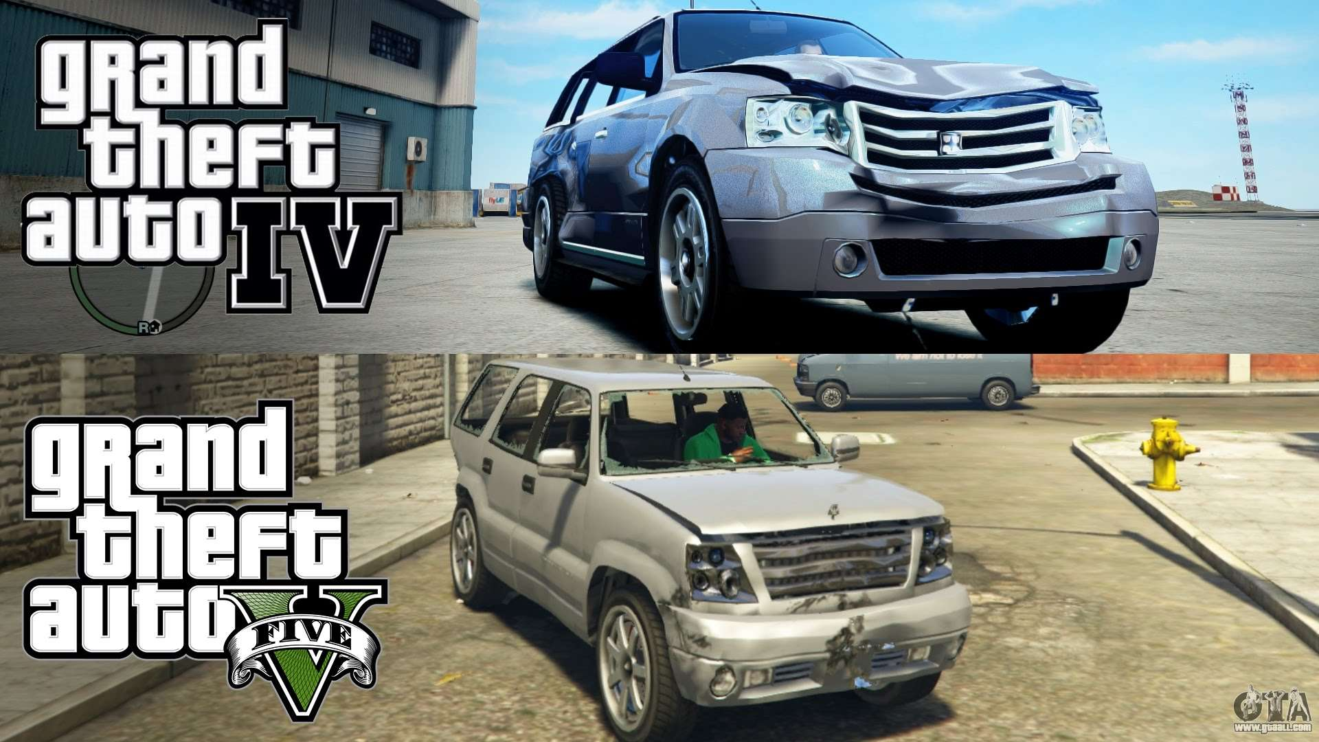 Comparison of the physics and gameplay of GTA 5 and GTA 4