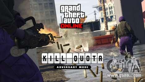 The new adversary mode Quota Kill and many more