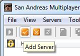 Панель с кнопкой 'Add server' (добавить сервер)