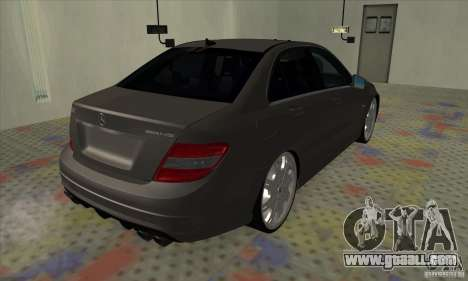 Mercedes-Benz C63 Dub for GTA San Andreas back left view