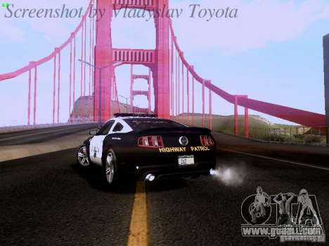 Ford Mustang GT 2011 Police Enforcement for GTA San Andreas back view