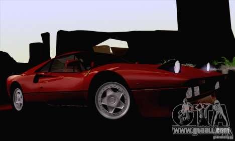 Ferrari 288 GTO 1984 for GTA San Andreas inner view