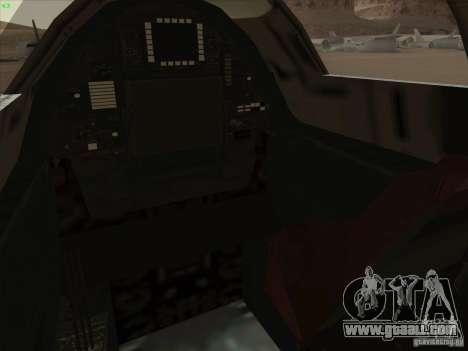 YF-12A for GTA San Andreas interior