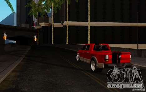 Dodge Ram 3500 Tuning for GTA San Andreas back left view