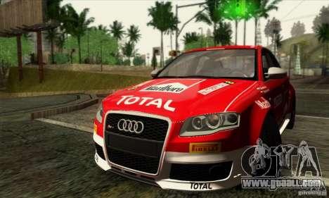 Audi RS4 for GTA San Andreas bottom view