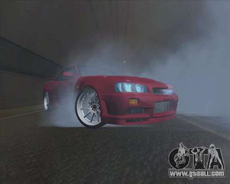 Nissan Skyline BNR34 GT-R for GTA San Andreas back left view