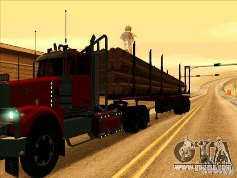 Trailer, Western Star 4900 for GTA San Andreas back left view