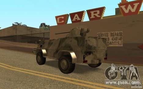 GAS-3937 Vodnik for GTA San Andreas back left view
