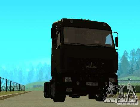 MAZ 5440 for GTA San Andreas back left view