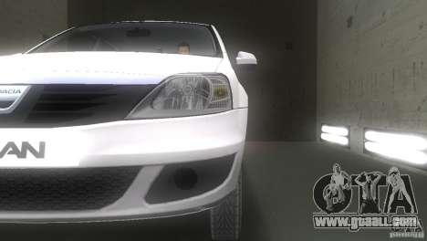 Dacia Logan for GTA Vice City side view