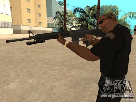 M4A1 from Left 4 Dead 2 for GTA San Andreas forth screenshot