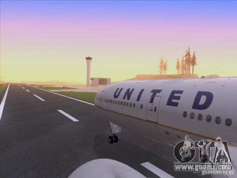 Boeing 777-200 United Airlines for GTA San Andreas upper view