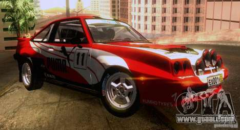 Opel Manta 400 for GTA San Andreas wheels